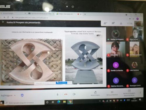 Incontro online con lo scultore Marino di Prospero A.A 2020 -21 (2) - Francesco Mazzotta